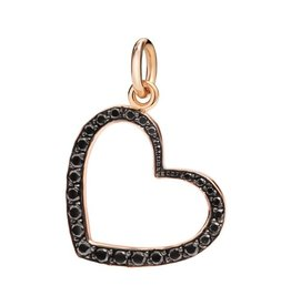DoDo Charm Heart zwarte diamant