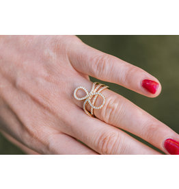 Ring rood goud diamant