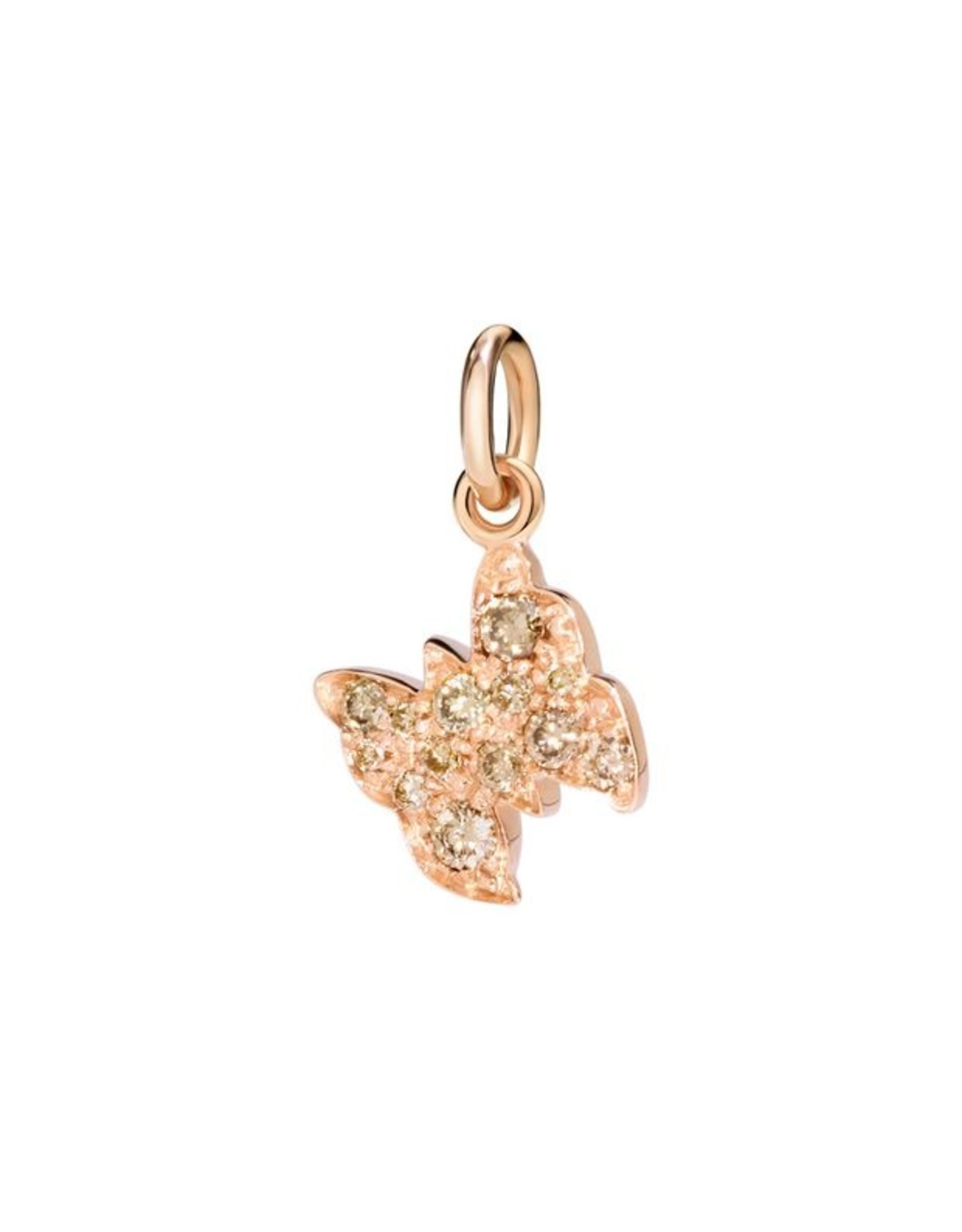 DoDo Charm Vlinder bruine diamant