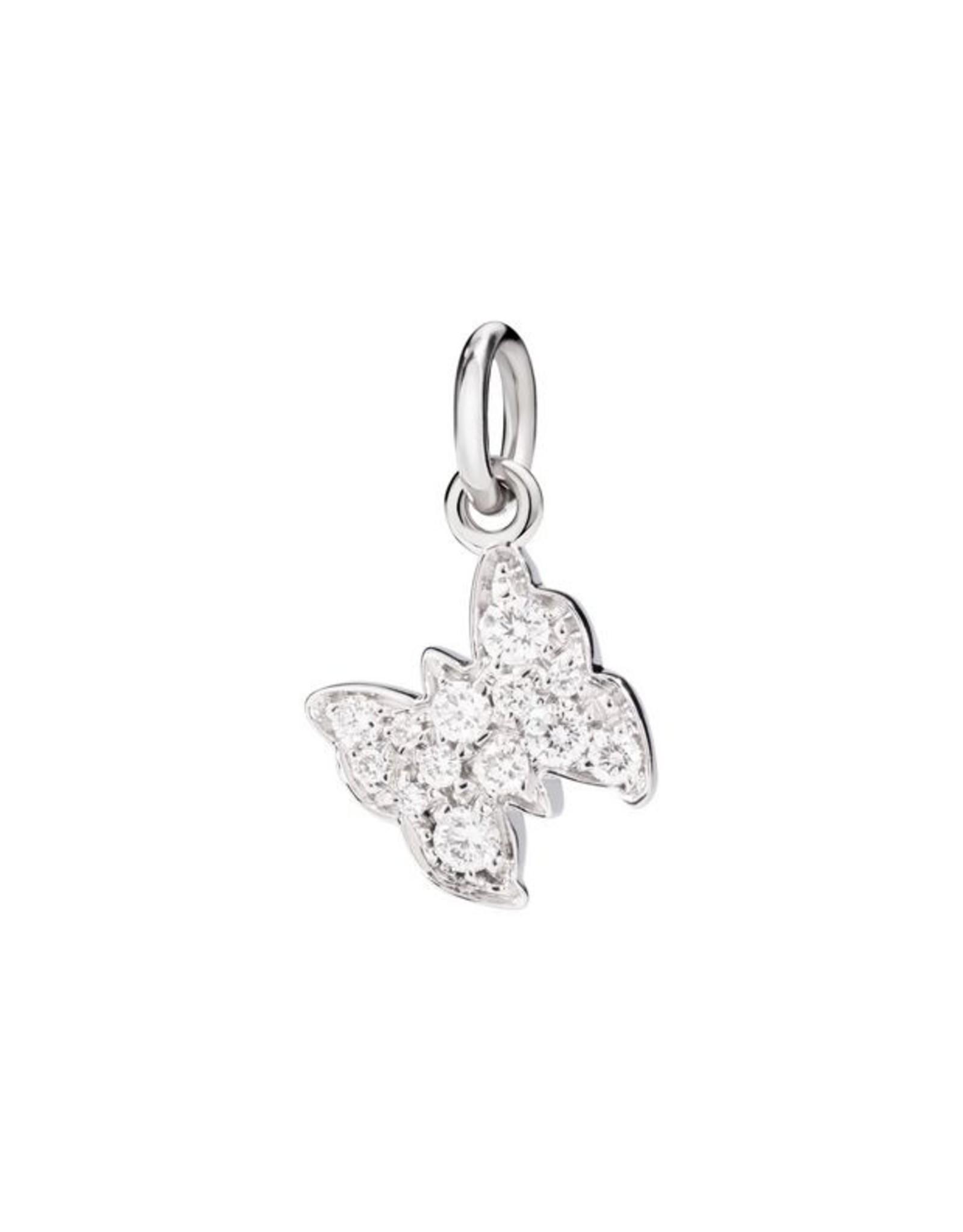 DoDo Charm Vlinder wit goud diamant