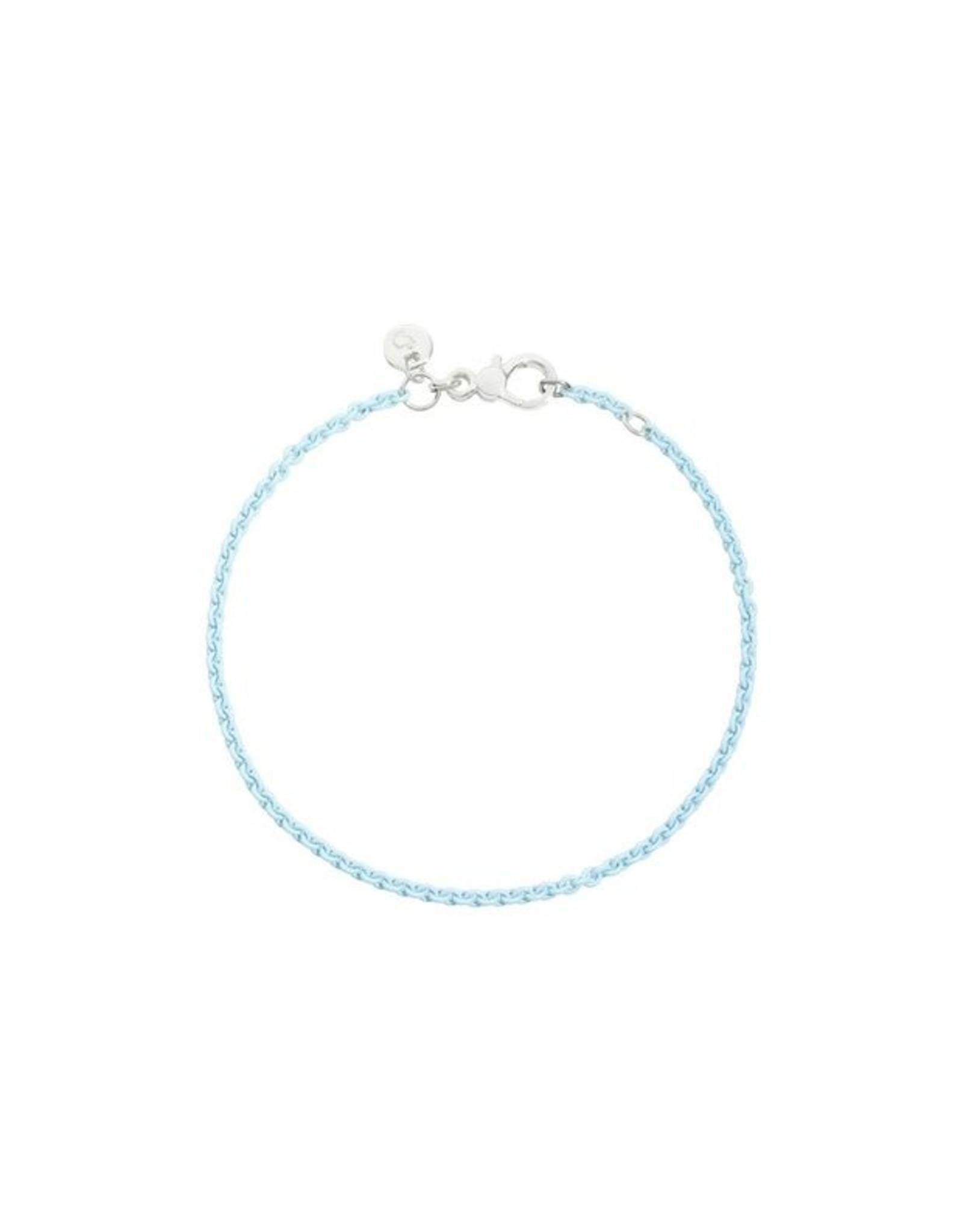 DoDo Armband Pastel Blauw zilver