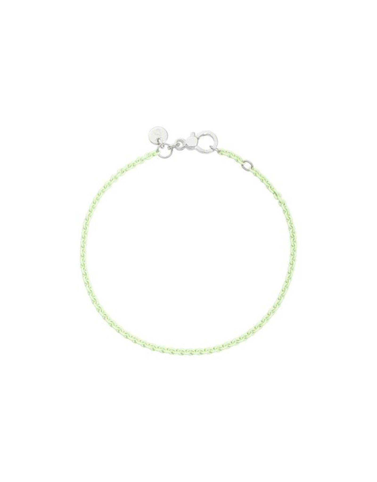 DoDo Armband Pastel Groen zilver