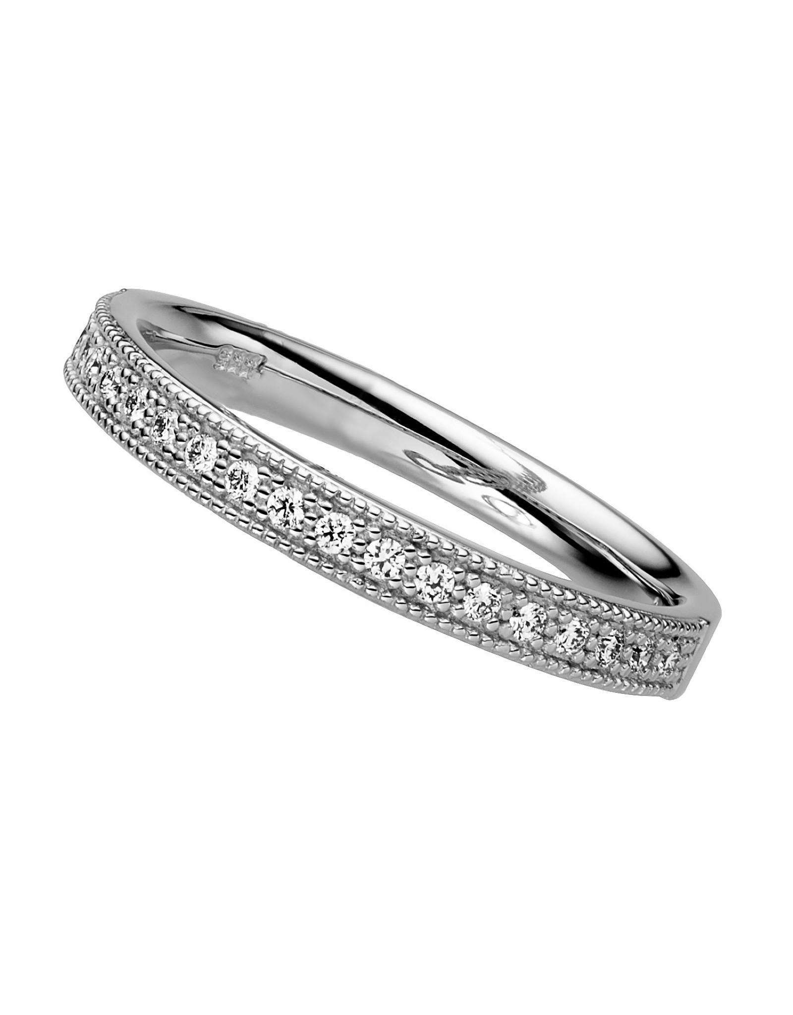 Trouwring wit goud diamant