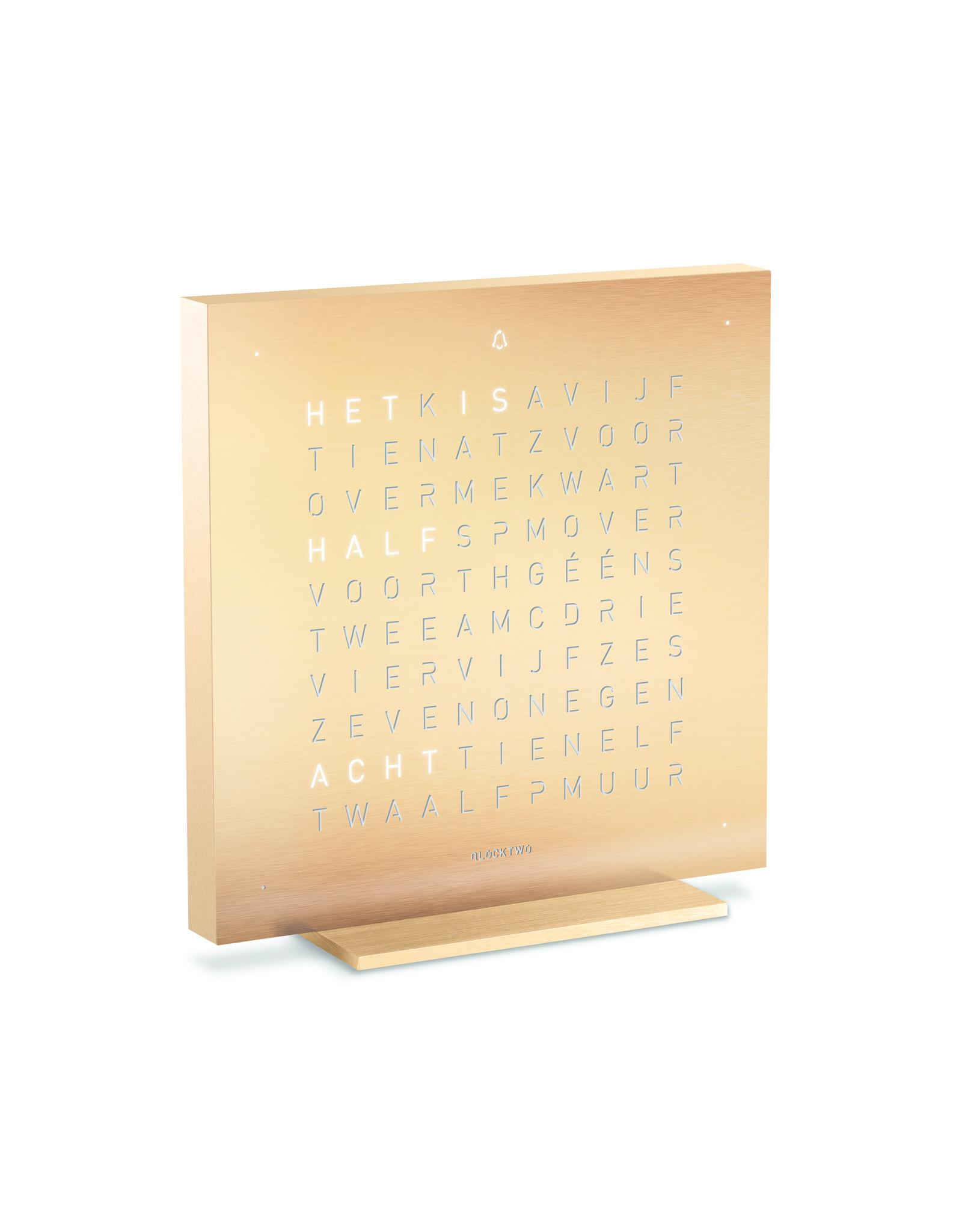 QLOCKTWO Touch Golden Legend (NL)