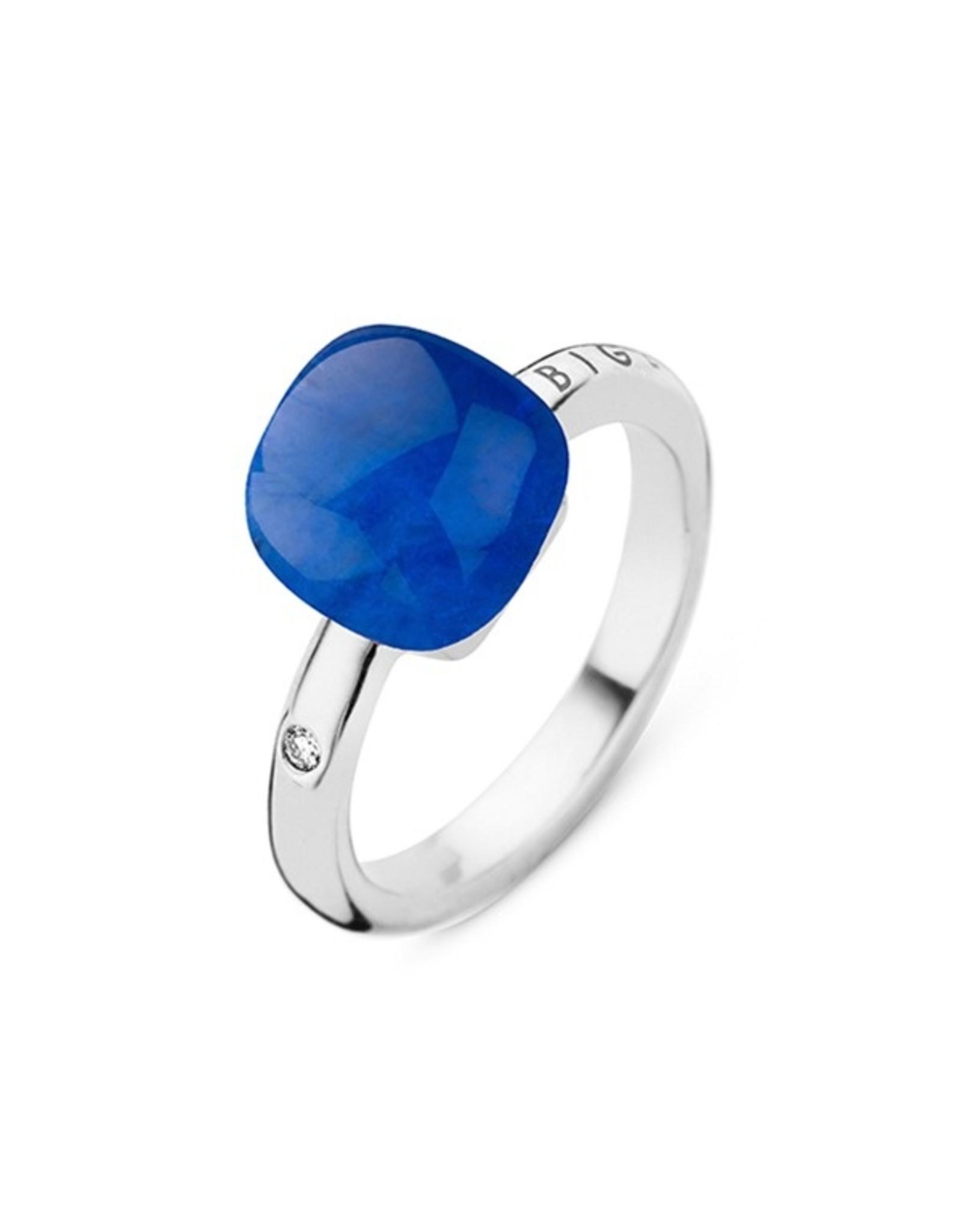 Bigli Ring Mini Sweety saffier en bergkristal