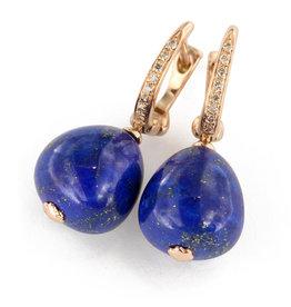 Brusi Oorringen Cherry lapis lazuli