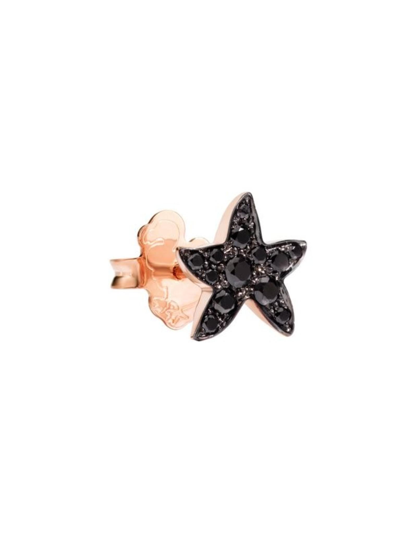 DoDo Oorring Starfish zwarte diamant (1 stuk)