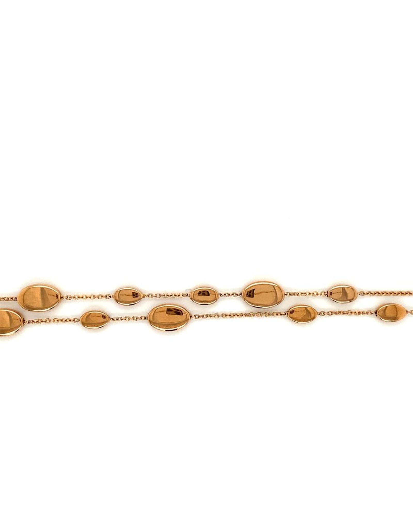 Clioro Armband rood goud 2 rang