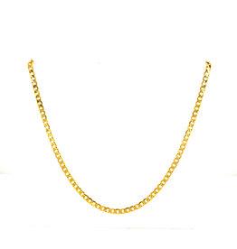 Collier geel goud