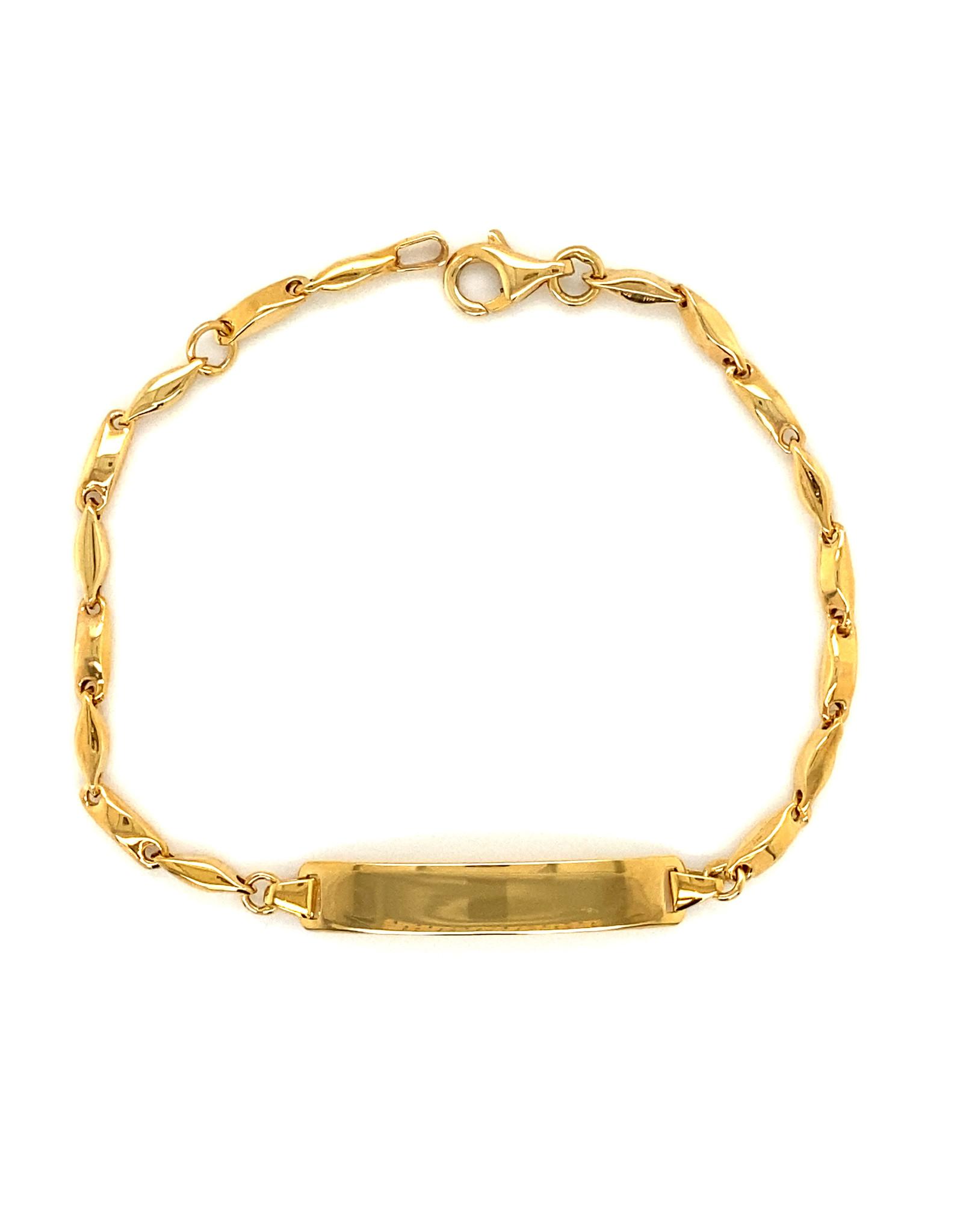 Armband geel goud 16 cm