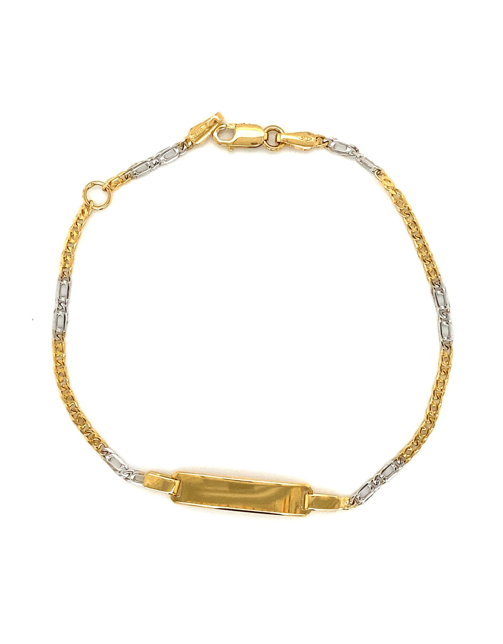 Armband geel en wit goud 18 cm