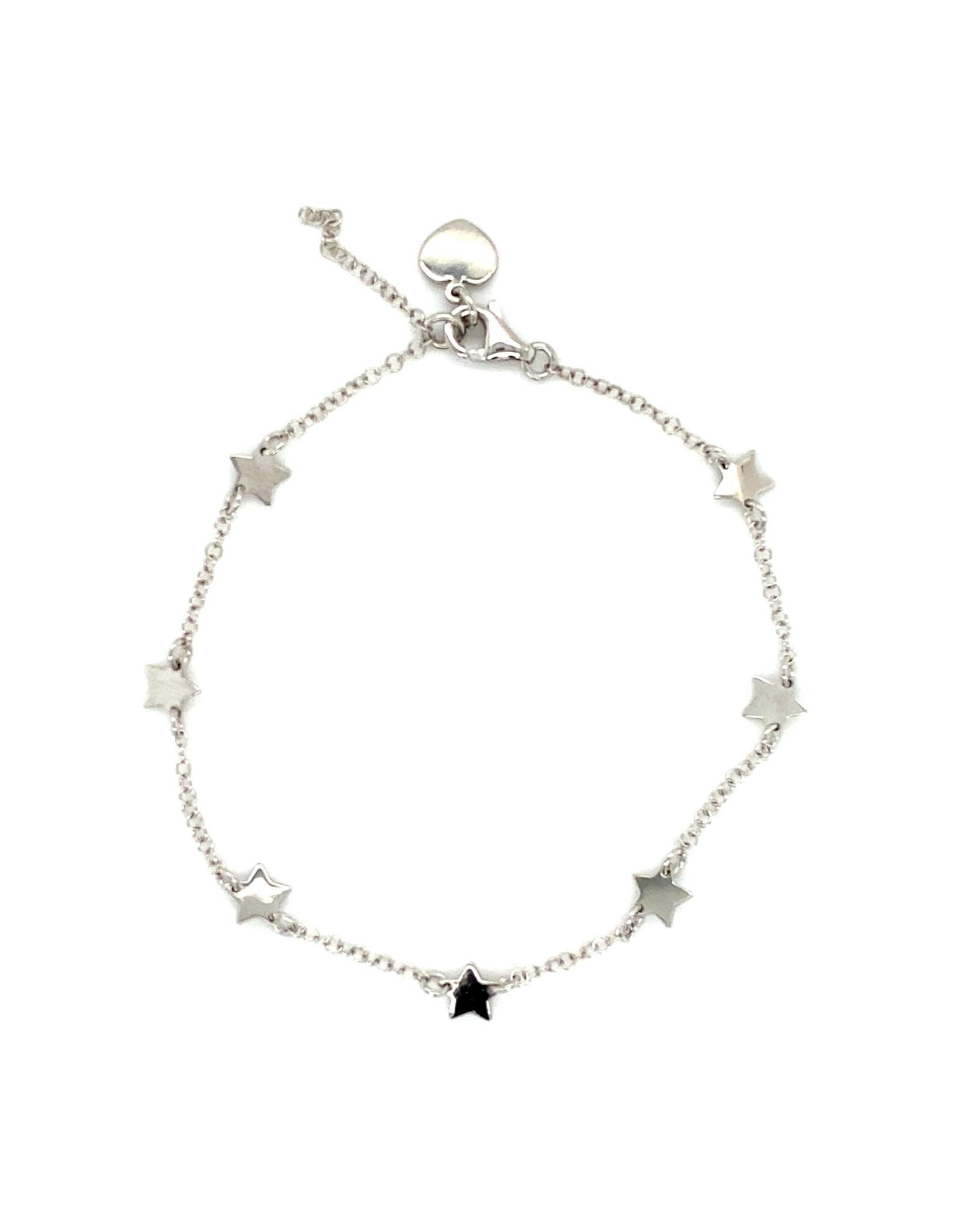 Armband wit goud sterren