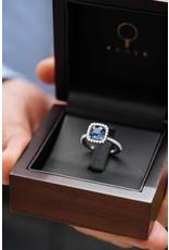 Ring wit goud saffier & diamant