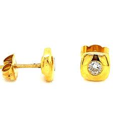 Oorringen geel goud diamant