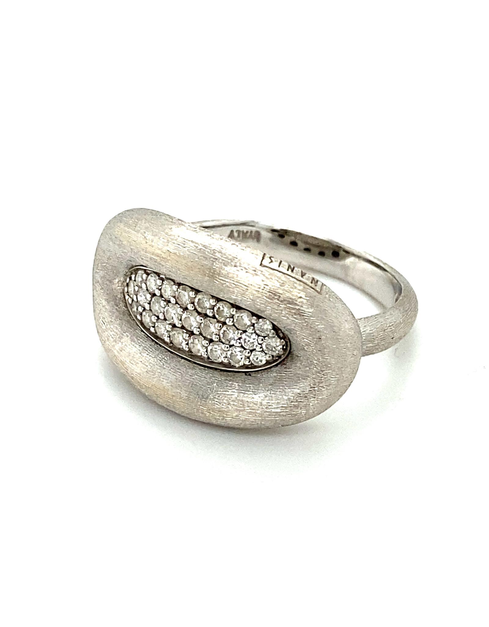 Ring wit goud met diamant