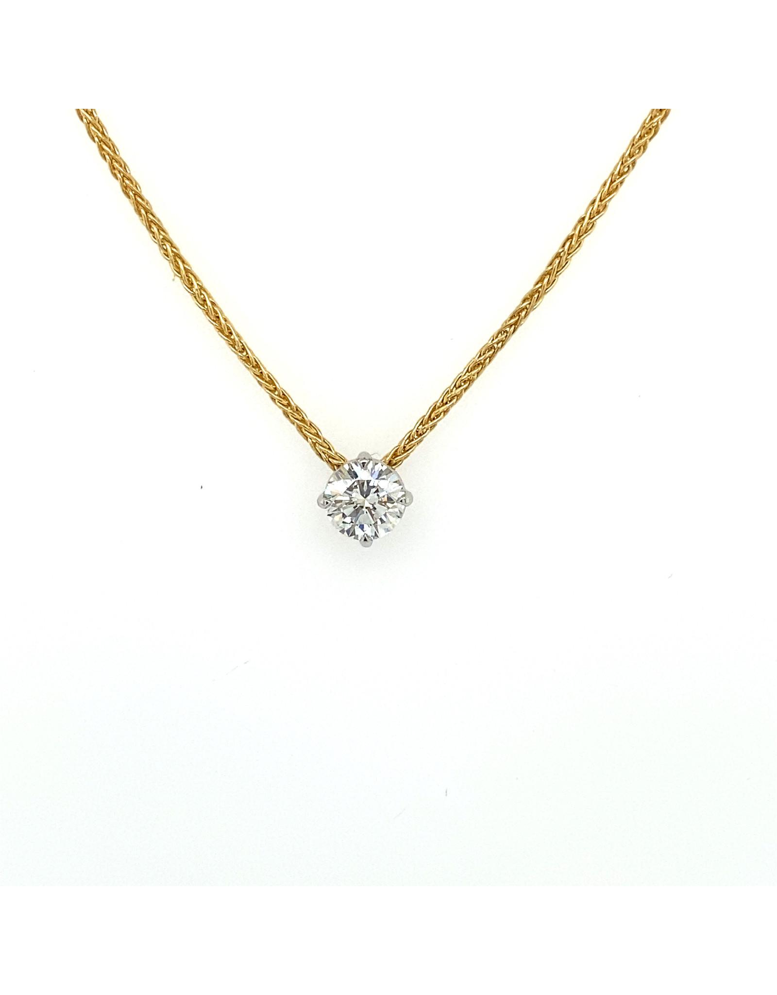 Collier geel goud diamant