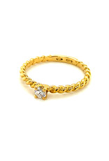 Ring solitaire geel goud