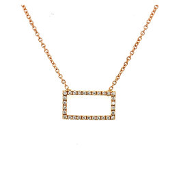 Collier rood goud diamant
