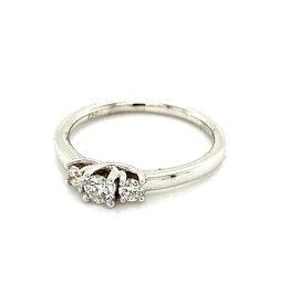 Ring trilogie wit goud diamant