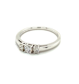 Ring trilogie wit goud diamant