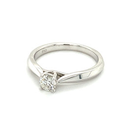 Ring solitaire royal wit goud