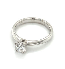 Ring solitaire wit goud