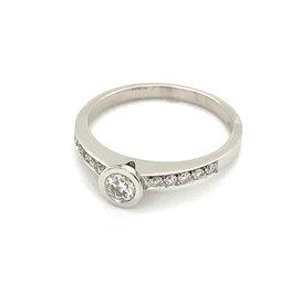Ring diamant wit goud