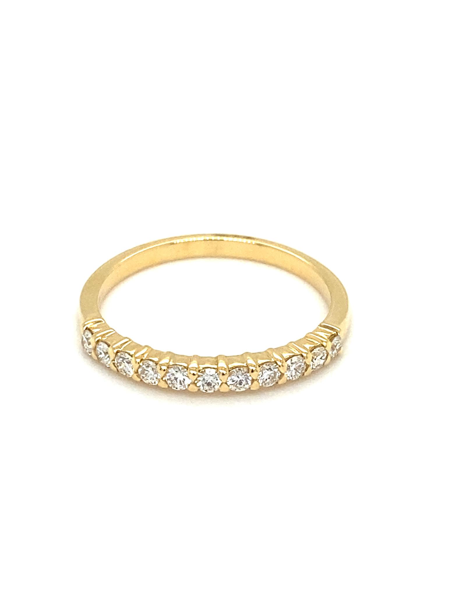 Trouwring geel goud diamant