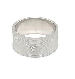 Ring wit goud diamant mat