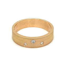 Ring rood goud diamant mat