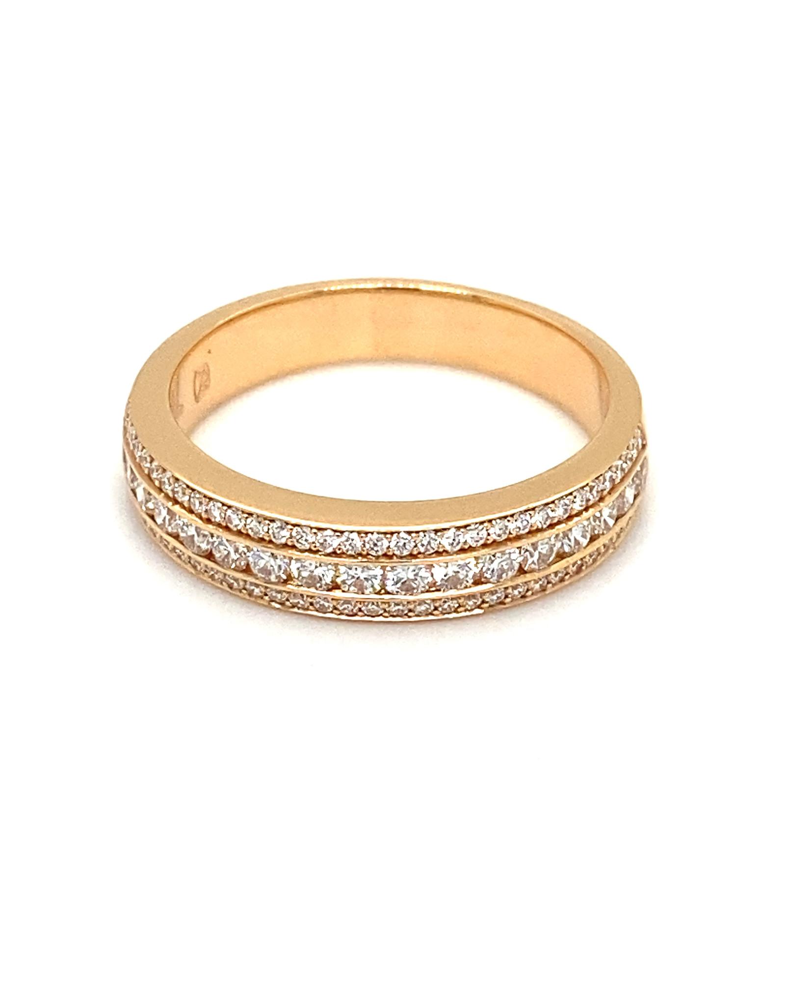 Ring rood goud diamant