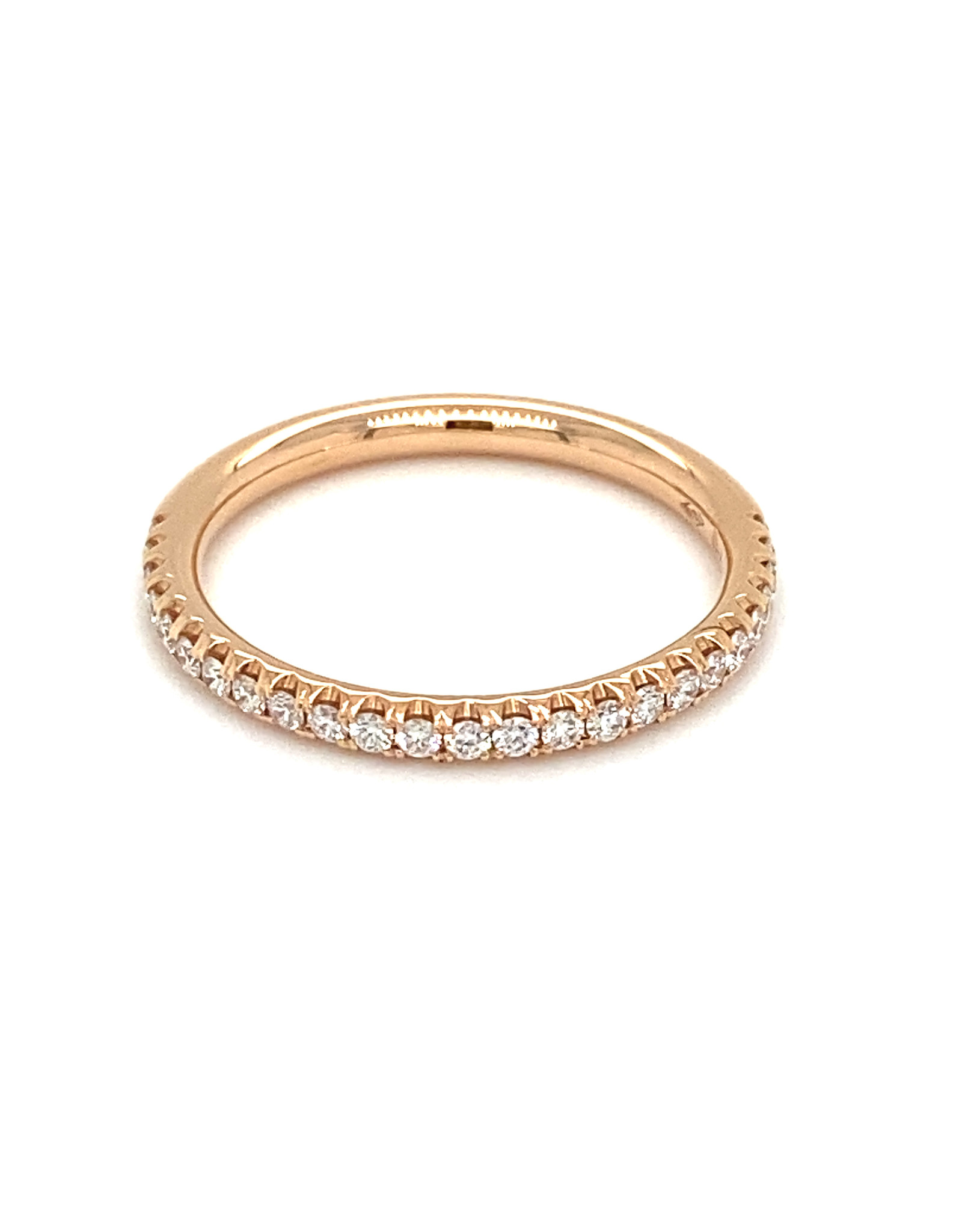 Trouwring rood goud diamant