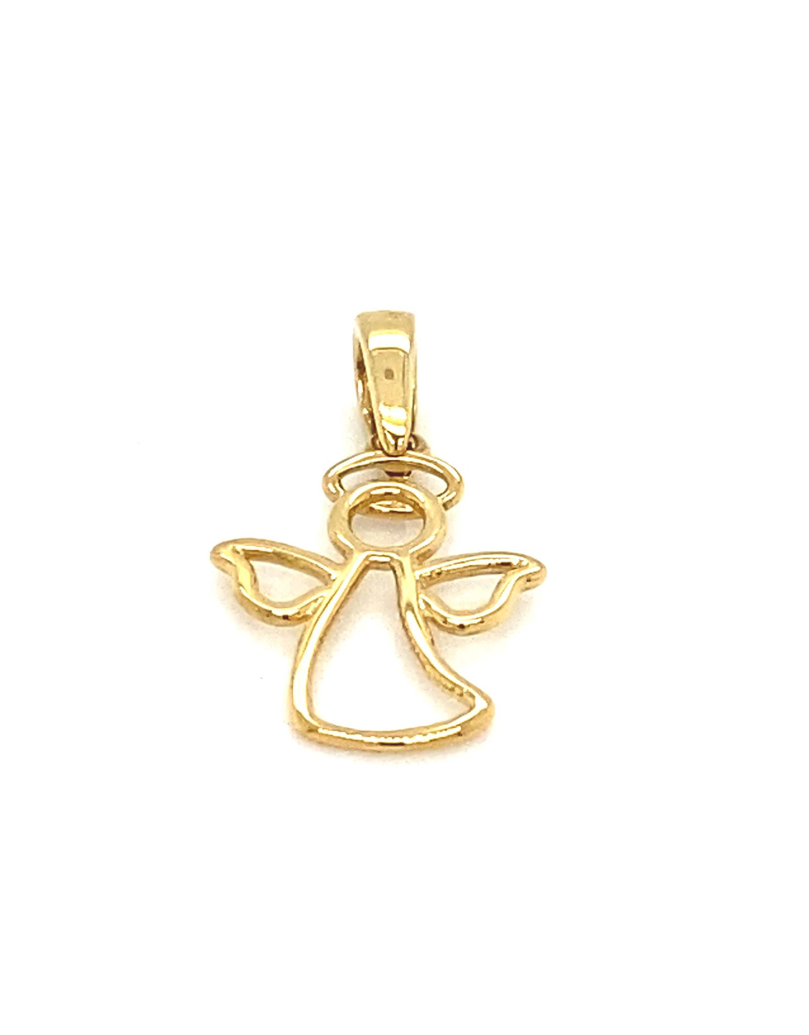 Hanger Engel geel goud