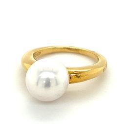 Ring geel goud zuidzeeparel