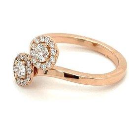 "Ring rood goud diamant ""Toi et Moi"""