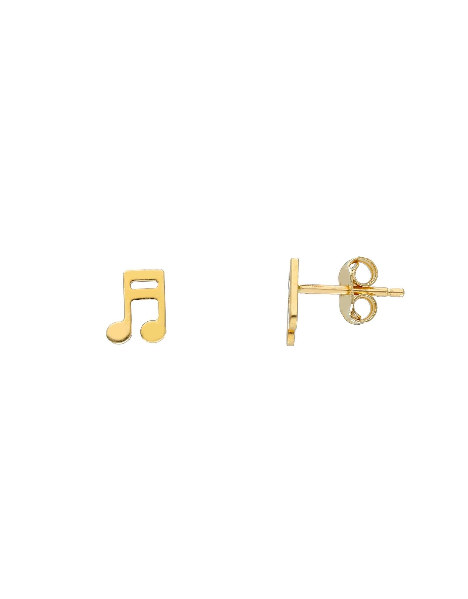 Oorringen geel goud muziek