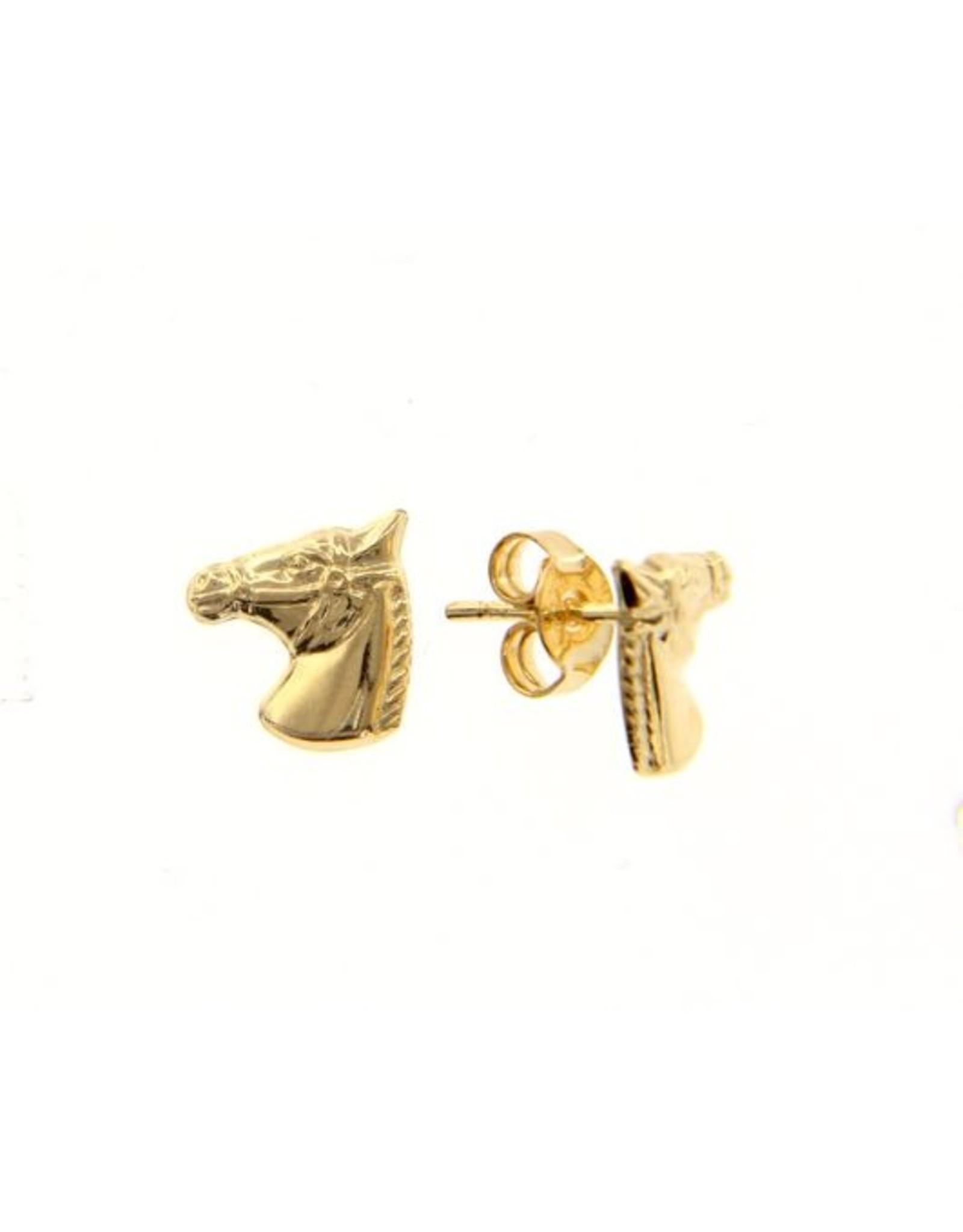 Oorringen geel goud paard