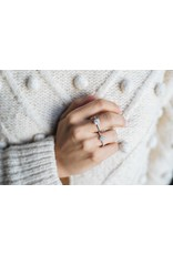 Ring diamant peer-slijpsel wit goud