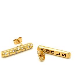 Pools Oorringen geel goud diamant