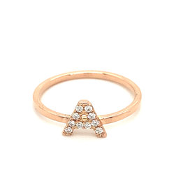 Valkiers Ring Diamond Letter A