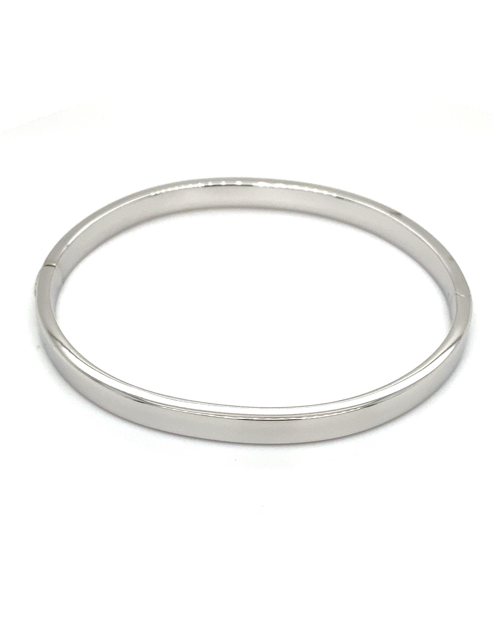 Armband esclave wit goud 5 mm