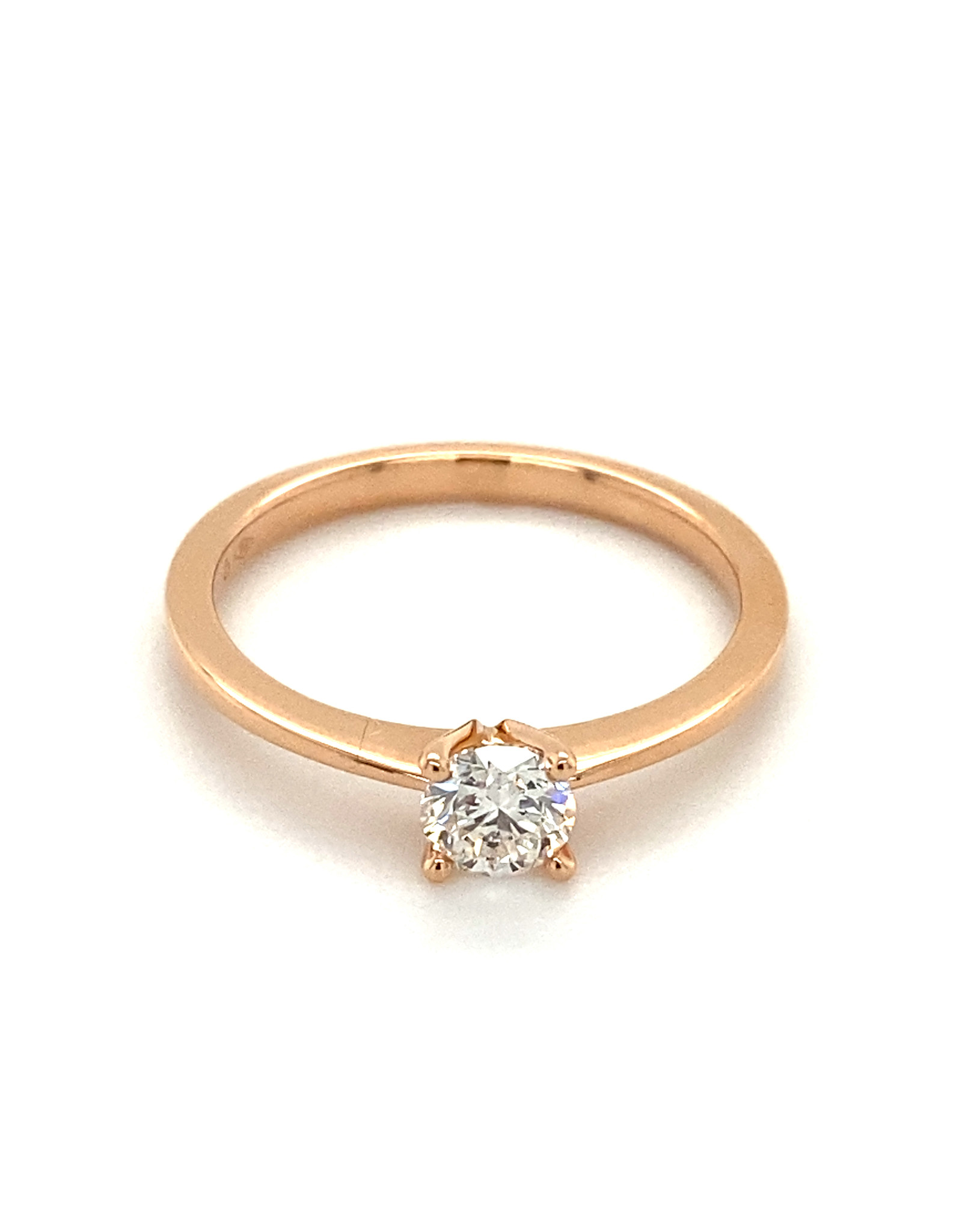 Ring solitaire rood goud