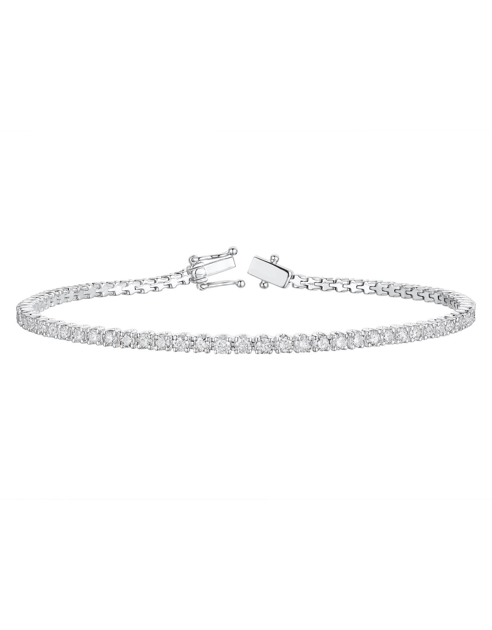 Armband wit goud diamant