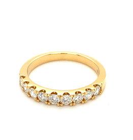 Ring geel goud diamant