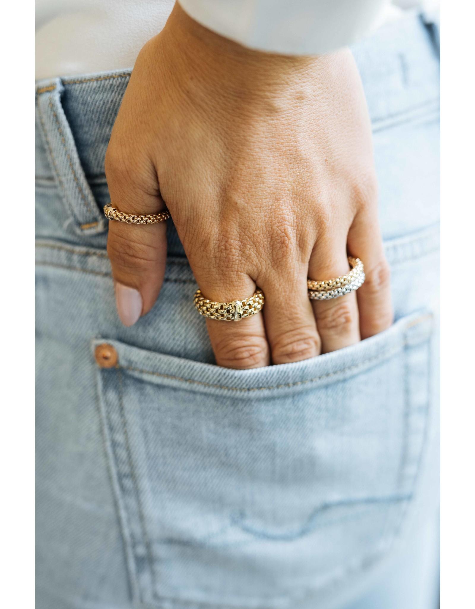 Fope Ring Essentials geel goud