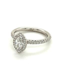 Ring wit goud diamant marquise