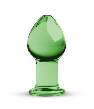 Gildo Ronde Glazen Buttplug - Groen