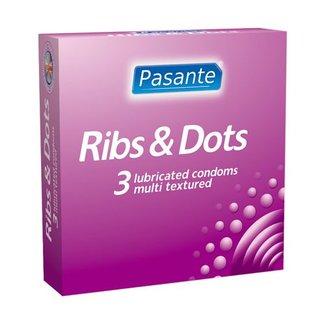 Pasante Pasante Ribs & Dots condooms 3st
