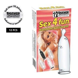 Secura Kondome Secura Sex4fun Condooms - 12 stuks