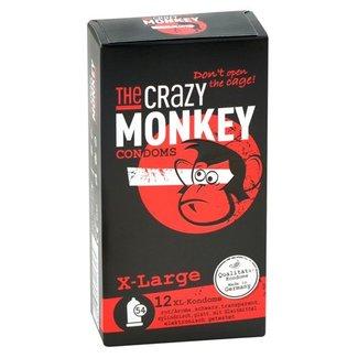 The Crazy Monkey TCMC XL Condooms Met Smaakjes - 12 stuks